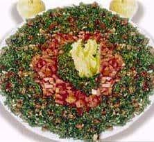 Lebanese Food Parsley Salad Or Tabbouleh 1