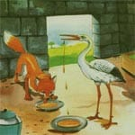 Fox and Stork 5