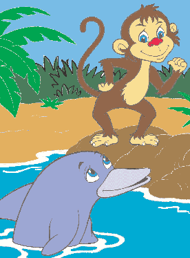 The monkey and the dolphin 1
