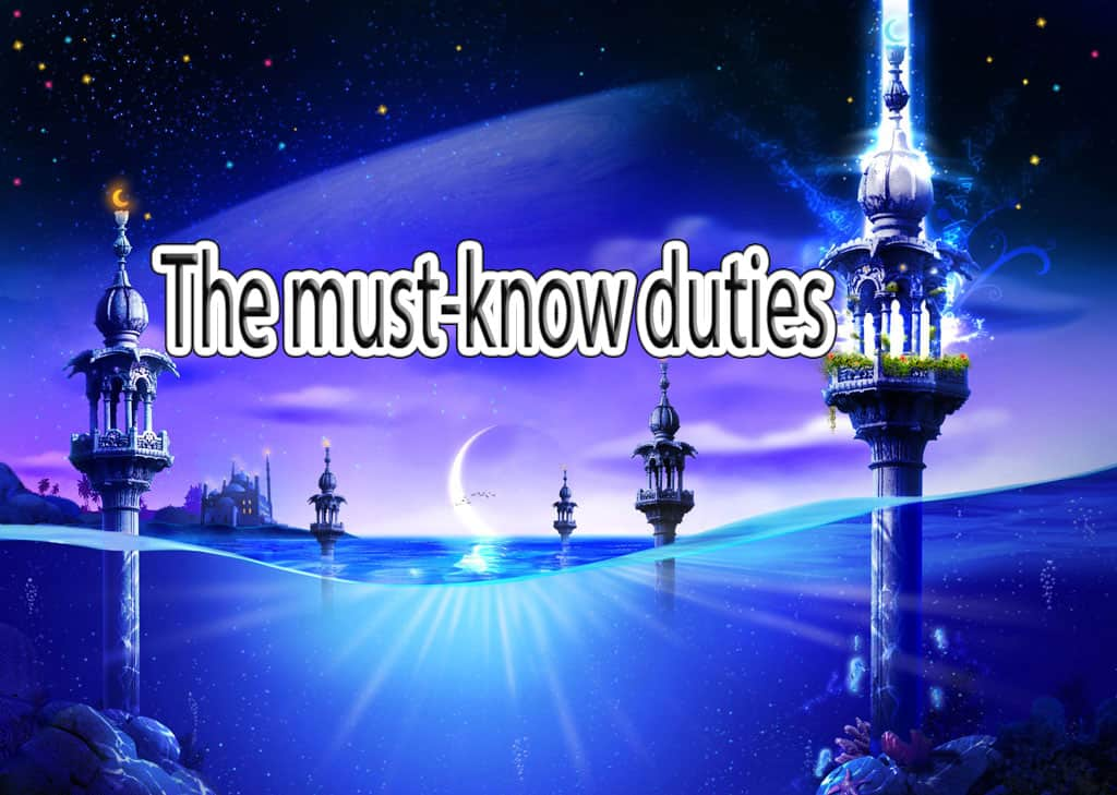 The must-know duties 1